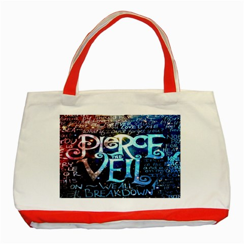 Pierce The Veil Quote Galaxy Nebula Classic Tote Bag (Red)