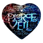 Pierce The Veil Quote Galaxy Nebula Heart Ornament (2 Sides) Back