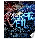 Pierce The Veil Quote Galaxy Nebula Canvas 16  x 20   20 x16 Canvas - 1