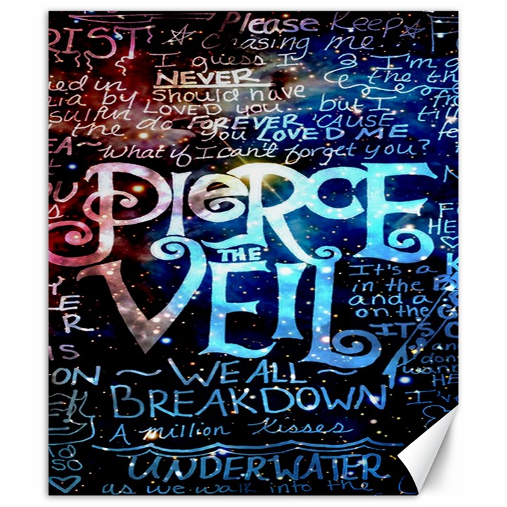 Pierce The Veil Quote Galaxy Nebula Canvas 20  x 24