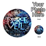 Pierce The Veil Quote Galaxy Nebula Playing Cards 54 (Round)  Front - Spade3