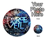 Pierce The Veil Quote Galaxy Nebula Playing Cards 54 (Round)  Front - SpadeK