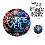 Pierce The Veil Quote Galaxy Nebula Playing Cards 54 (Round)  Front - HeartA
