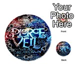 Pierce The Veil Quote Galaxy Nebula Playing Cards 54 (Round)  Front - Spade7