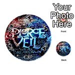 Pierce The Veil Quote Galaxy Nebula Playing Cards 54 (Round)  Front - ClubA