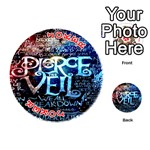 Pierce The Veil Quote Galaxy Nebula Playing Cards 54 (Round)  Front - Joker2