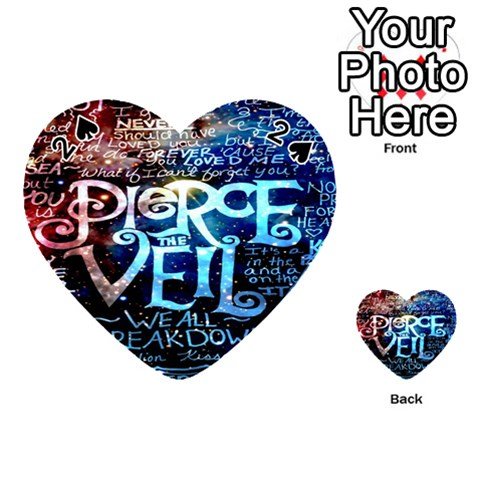Pierce The Veil Quote Galaxy Nebula Playing Cards 54 (Heart)