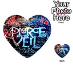 Pierce The Veil Quote Galaxy Nebula Playing Cards 54 (Heart)  Front - HeartQ