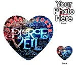 Pierce The Veil Quote Galaxy Nebula Playing Cards 54 (Heart)  Front - Joker2
