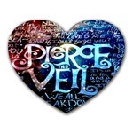 Pierce The Veil Quote Galaxy Nebula Heart Mousepads Front