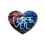 Pierce The Veil Quote Galaxy Nebula Rubber Coaster (Heart)  Front