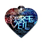 Pierce The Veil Quote Galaxy Nebula Dog Tag Heart (Two Sides) Front