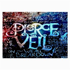 Pierce The Veil Quote Galaxy Nebula Large Glasses Cloth (2 Side)