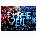 Pierce The Veil Quote Galaxy Nebula Large Glasses Cloth (2-Side) Back