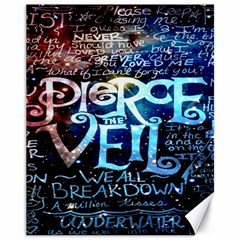 Pierce The Veil Quote Galaxy Nebula Canvas 11  X 14