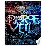 Pierce The Veil Quote Galaxy Nebula Canvas 11  x 14   14 x11 Canvas - 1