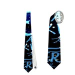 Pierce The Veil Quote Galaxy Nebula Neckties (Two Side)  Front