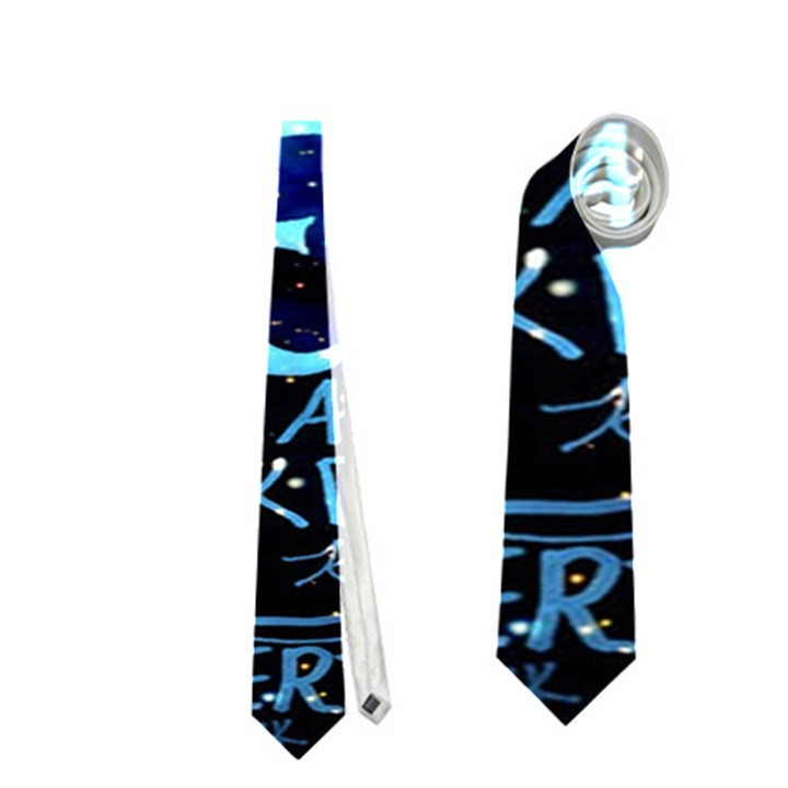 Pierce The Veil Quote Galaxy Nebula Neckties (Two Side)