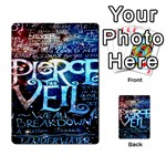 Pierce The Veil Quote Galaxy Nebula Multi-purpose Cards (Rectangle)  Back 9