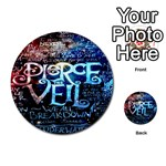 Pierce The Veil Quote Galaxy Nebula Multi-purpose Cards (Round)  Back 22