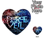 Pierce The Veil Quote Galaxy Nebula Multi-purpose Cards (Heart)  Back 19