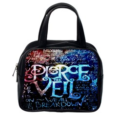 Pierce The Veil Quote Galaxy Nebula Classic Handbags (One Side)