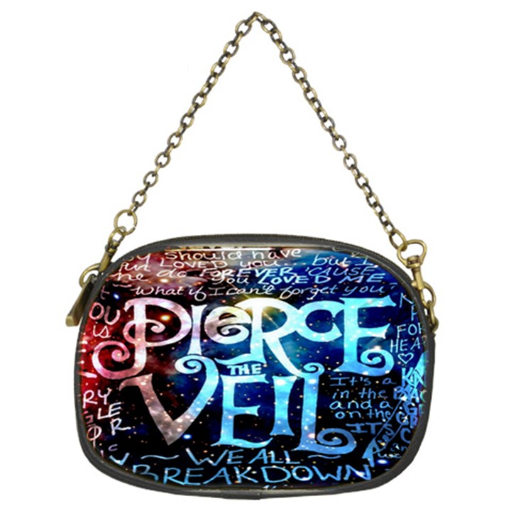 Pierce The Veil Quote Galaxy Nebula Chain Purses (Two Sides)