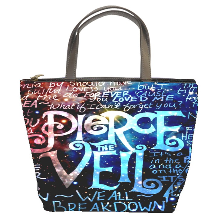 Pierce The Veil Quote Galaxy Nebula Bucket Bags