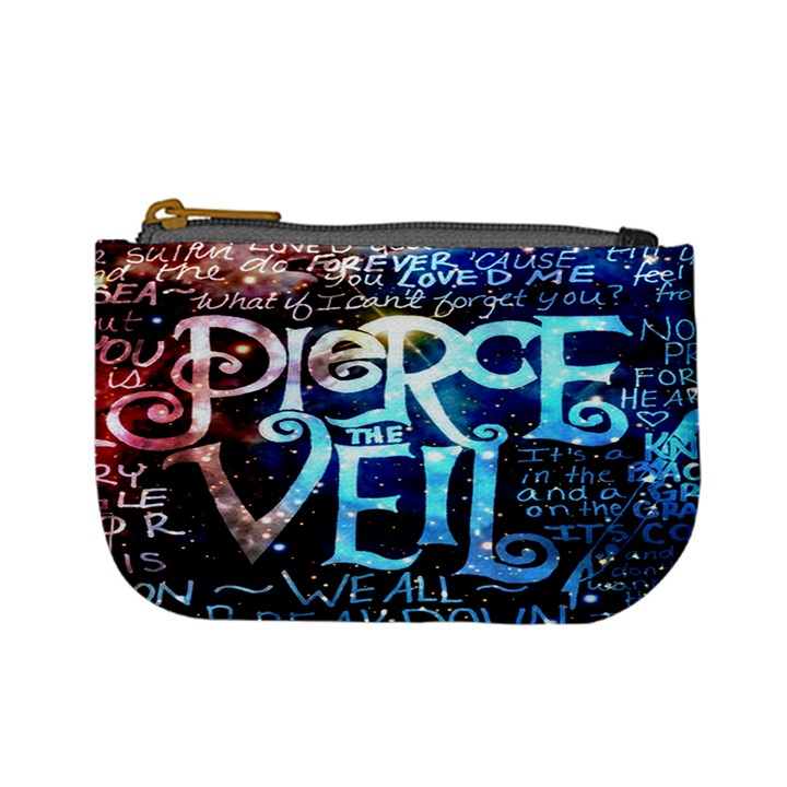 Pierce The Veil Quote Galaxy Nebula Mini Coin Purses