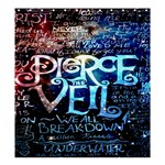 Pierce The Veil Quote Galaxy Nebula Shower Curtain 66  x 72  (Large)  58.75 x64.8 Curtain