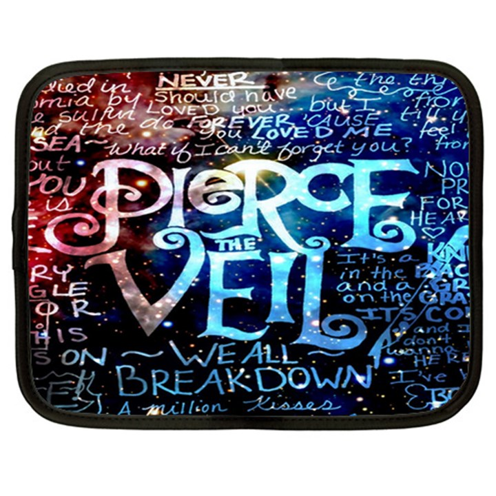 Pierce The Veil Quote Galaxy Nebula Netbook Case (XL)