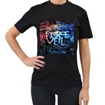 Pierce The Veil Quote Galaxy Nebula Women s T-Shirt (Black) Front