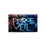 Pierce The Veil Quote Galaxy Nebula Cosmetic Bag (Small)  Front