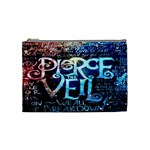 Pierce The Veil Quote Galaxy Nebula Cosmetic Bag (Medium)  Front