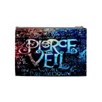 Pierce The Veil Quote Galaxy Nebula Cosmetic Bag (Medium)  Back