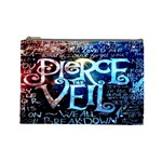 Pierce The Veil Quote Galaxy Nebula Cosmetic Bag (Large)  Front
