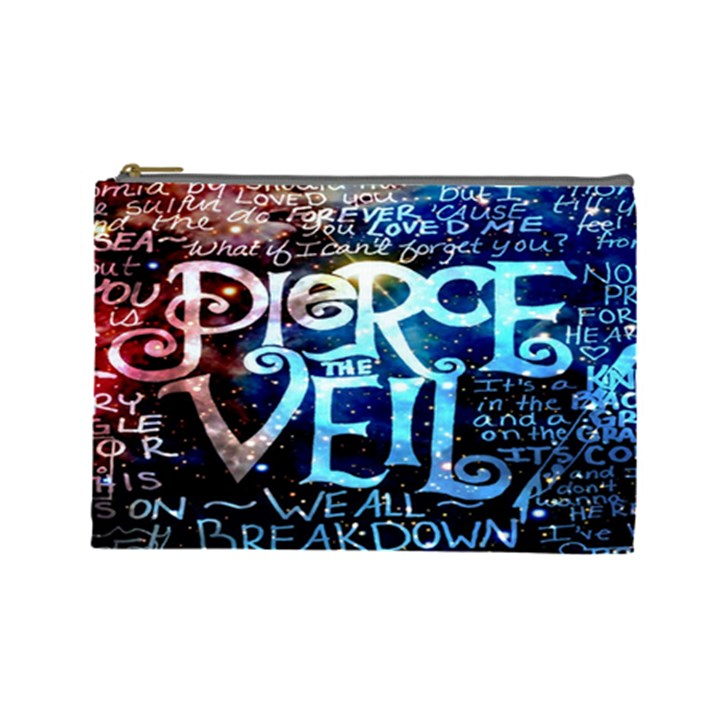 Pierce The Veil Quote Galaxy Nebula Cosmetic Bag (Large)