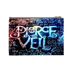 Pierce The Veil Quote Galaxy Nebula Cosmetic Bag (Large)  Back