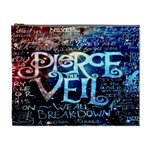 Pierce The Veil Quote Galaxy Nebula Cosmetic Bag (XL) Front