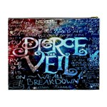 Pierce The Veil Quote Galaxy Nebula Cosmetic Bag (XL) Back