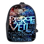 Pierce The Veil Quote Galaxy Nebula School Bags(Large)  Front