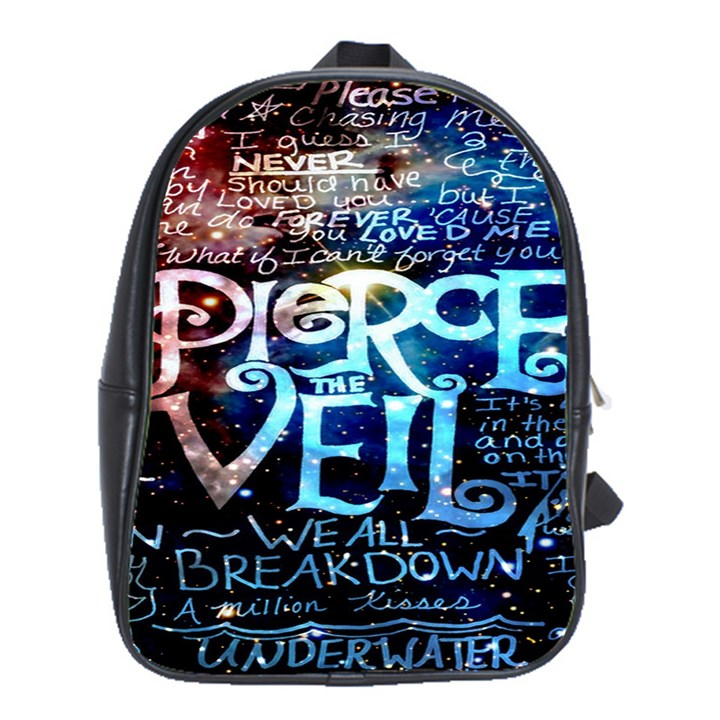 Pierce The Veil Quote Galaxy Nebula School Bags(Large)