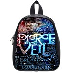 Pierce The Veil Quote Galaxy Nebula School Bags (Small)  Front