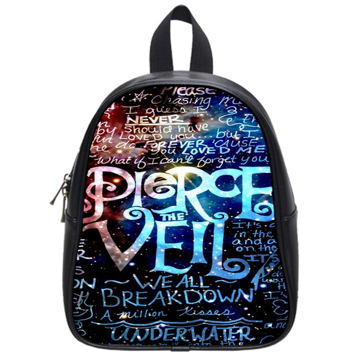 Pierce The Veil Quote Galaxy Nebula School Bags (Small)