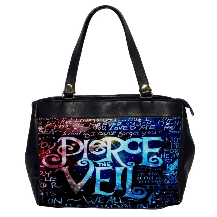 Pierce The Veil Quote Galaxy Nebula Office Handbags