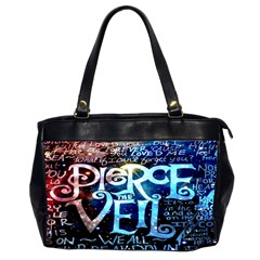 Pierce The Veil Quote Galaxy Nebula Office Handbags (2 Sides)
