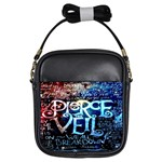 Pierce The Veil Quote Galaxy Nebula Girls Sling Bags Front