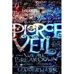 Pierce The Veil Quote Galaxy Nebula 5.5  x 8.5  Notebooks Front Cover