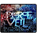 Pierce The Veil Quote Galaxy Nebula Fleece Blanket (Medium)  60 x50 Blanket Front
