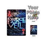 Pierce The Veil Quote Galaxy Nebula Playing Cards 54 (Mini)  Front - Heart9